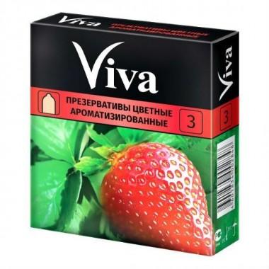 Презервативы Viva цветные, ароматизированные, 3 шт