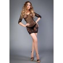 Платье черное с длинным рукавом (S/L)