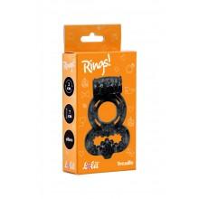 Эрекционное кольцо Rings Treadle (Черный)