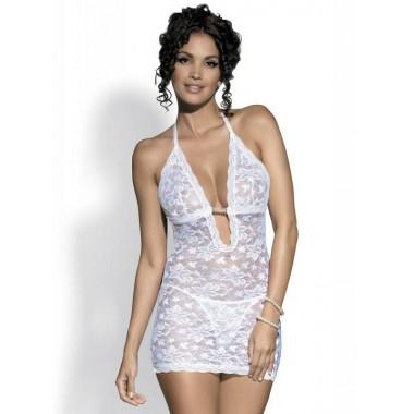 Brilliant Jennifer сорочка+стринги (белый, L/XL)