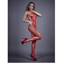 Боди-комбинезон красный с боковой полоской (S/L)