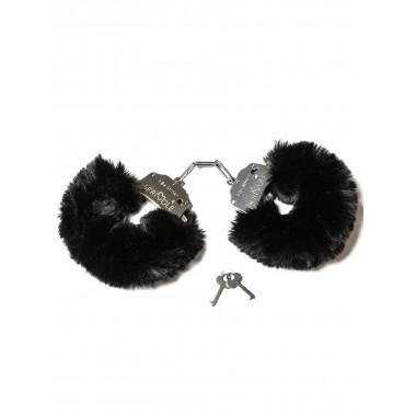 Дерзкие наручники с пушистым черным мехом (Be Mine)