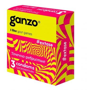 Презервативы Ganzo Точечно-ребристые №3