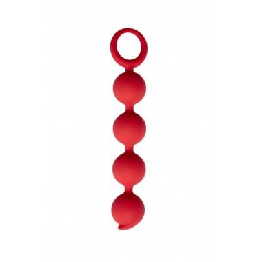 Анальная цепочка Appulse, силикон, цвет бордовый