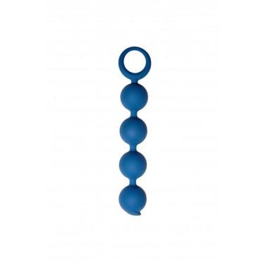 Анальная цепочка Appulse, силикон, цвет кобальт