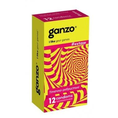 Презервативы Ganzo Точечно-ребристые №12