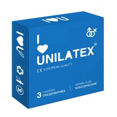 """Презервативы UNILATEX """"NATURAL PLAIN"""" классические, 3 шт"""