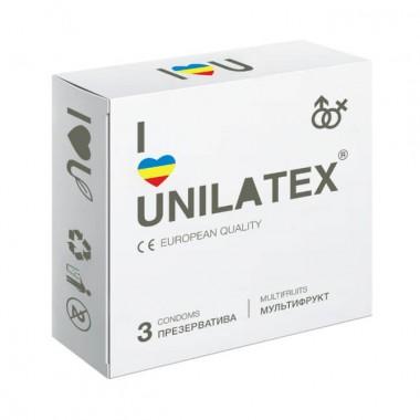 """Презервативы UNILATEX """"MULTIFRUITS"""" цветные, ароматизированные, 3 шт"""