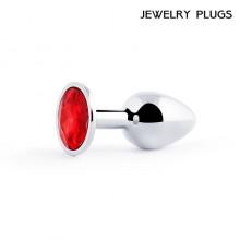 Втулка анальная маленькая цвет кристалла красный, L 72 мм, D 28 мм, вес 50г