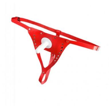 ТРУСИКИ для страпона, цвет красный, артикул 3150-2