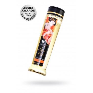 Масло для массажа SHUNGA STIMULATION, натуральное, возбуждающее, с ароматом персика, 250 мл