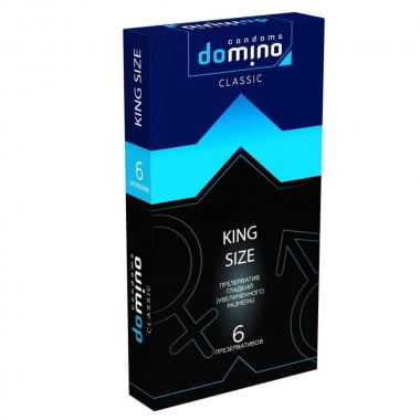 ПРЕЗЕРВАТИВЫ DOMINO CLASSIC KING SIZE 6 штук