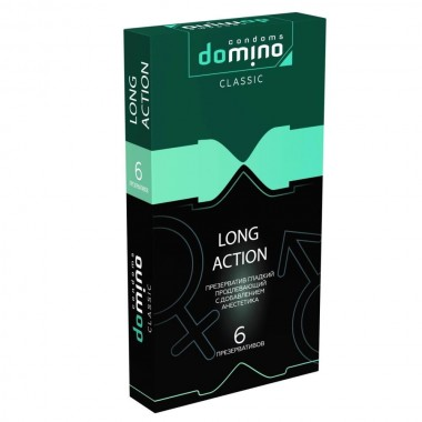 ПРЕЗЕРВАТИВЫ DOMINO CLASSIC LONG ACTION 6 штук
