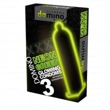 ПРЕЗЕРВАТИВЫ DOMINO NEON GREEN светящиеся 3 штуки