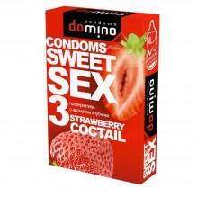 ПРЕЗЕРВАТИВЫ DOMINO SWEET SEX STRAWBERRY COCTAIL 3 штуки (оральные)