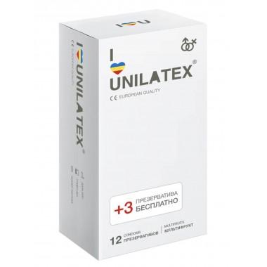 """Презервативы UNILATEX """"MULTIFRUITS"""" цветные ароматизированные, 12 шт."""