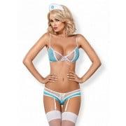 Nurse costume 3 pcs (Белый/Голубой S/M)