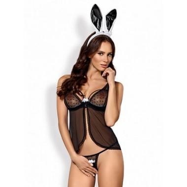 Bunny costume 5 pcs (Черный/Белый L/XL)