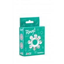 Эрекционное кольцо Rings Bubbles (Белый)