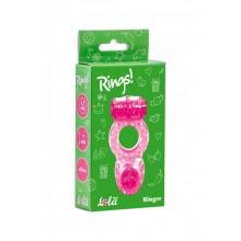Эрекционное кольцо с вибрацией Rings Ringer (Розовый)