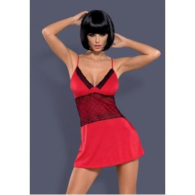 Lamia chemise & thong (Красный S/M)