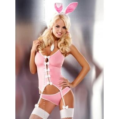 Bunny suit 4 pcs costume (Розовый L/XL)