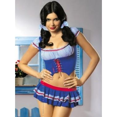 Heidi 4 pcs costume (Синий S/M)