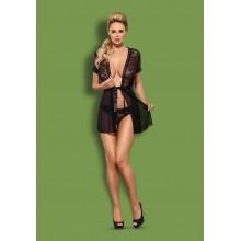 Swanita robe & panties (Черный S/M)
